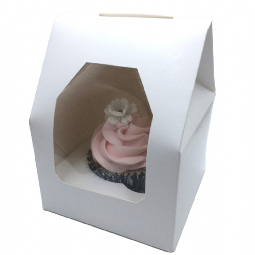 Single White Cupcake Box